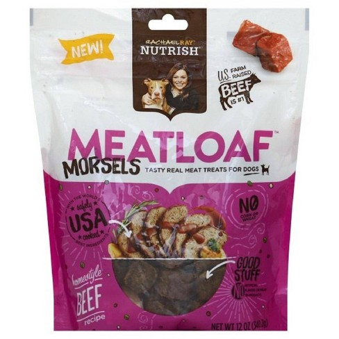 Rachael Ray Nutrish Meatloaf Morsels Dog Treats Homestyle Beef Recipe 12oz - image 1 of 4