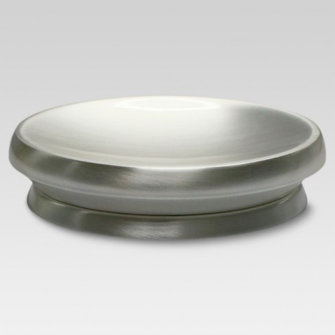 Satin Soap Dish Silver - Threshold™ - image 1 of 2