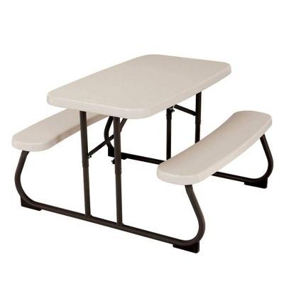 Kids Rectangle Picnic Table Almond - Lifetime