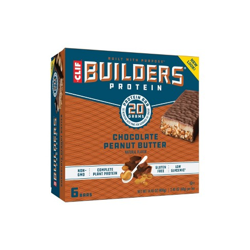 Clif Builder's Bar - Chocolate Peanut Butter - 6ct - image 1 of 4
