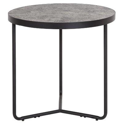 """Flash Furniture Providence Collection 19.5"""" Round End Table in Concrete Finish"""