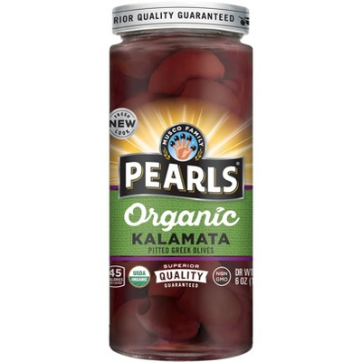 Pearls Organic Kalamata Pitted Greek Olives - 6oz