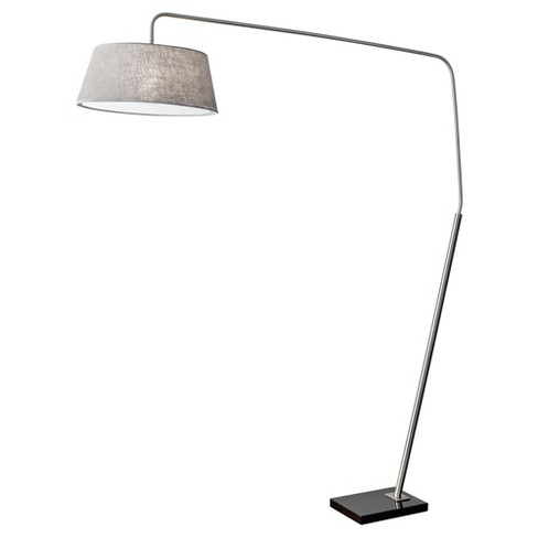 Adesso Ludlow Arc Lamp - Silver - image 1 of 2
