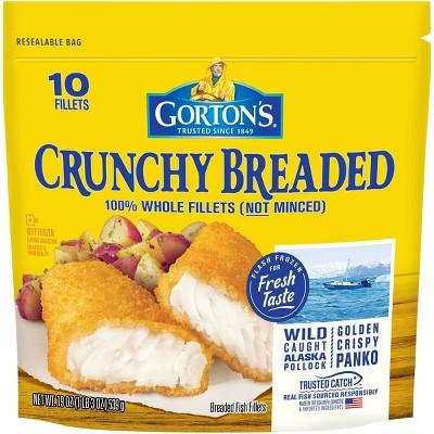 Gorton's Crunchy Breaded Fish Fillets - Frozen - 10ct