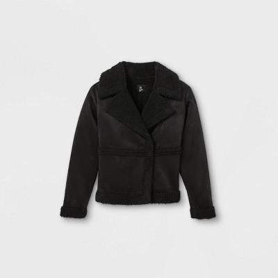 Girls' Sherpa Moto Jacket - art class™