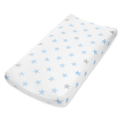 Aden by Aden + Anais Changing Pad Cover - Dapper - Teal