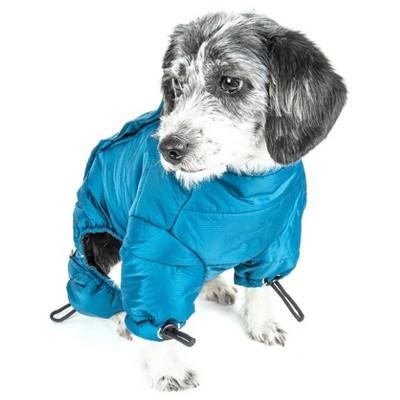 Dog Helios Thunder-Crackle Full-Body Waded-Plush Adjustable and 3M Reflective Dog Jacket - Blue