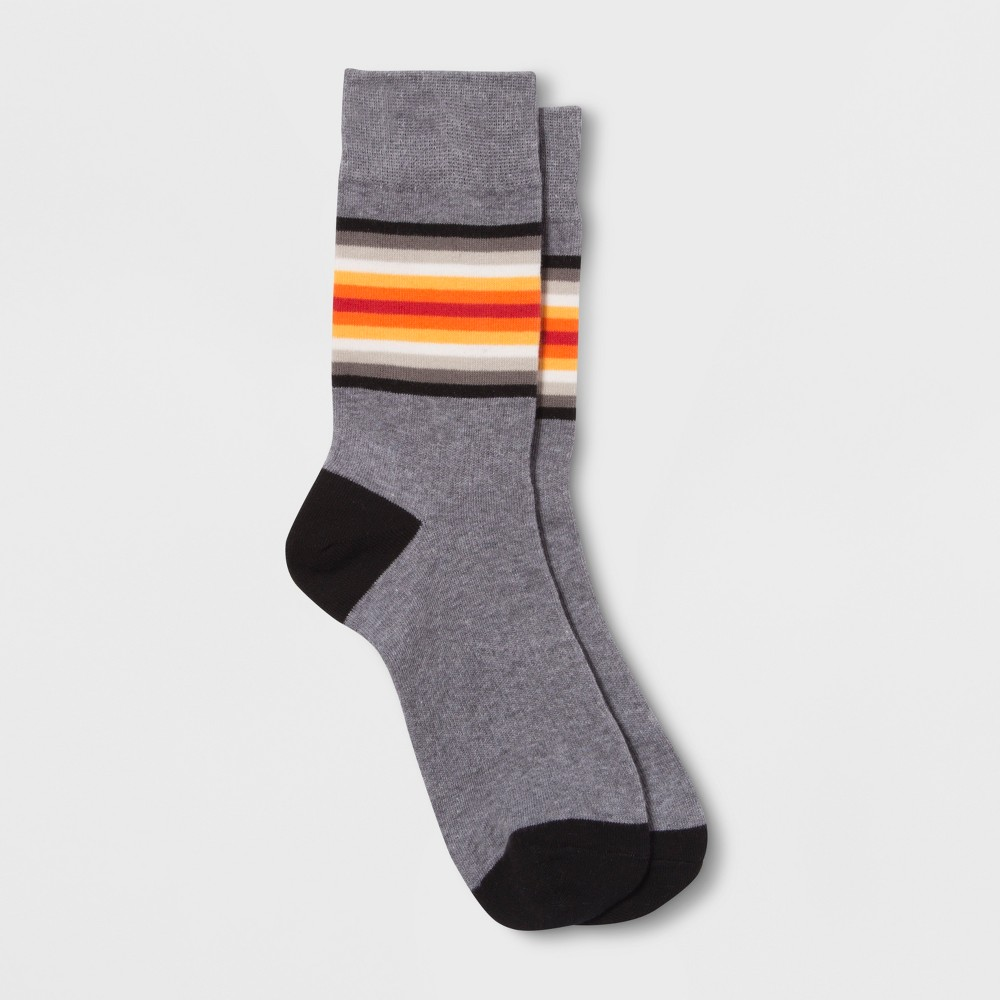 1920s-1950s New Vintage Men's Socks Pair of Thieves Mens Striped Crew Socks - Charcoal Heather Gray 8-12 $5.99 AT vintagedancer.com