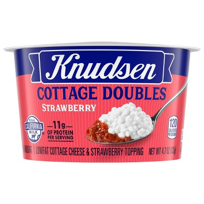 Knudsen Strawberry Cottage Cheese Doubles - 4.7oz
