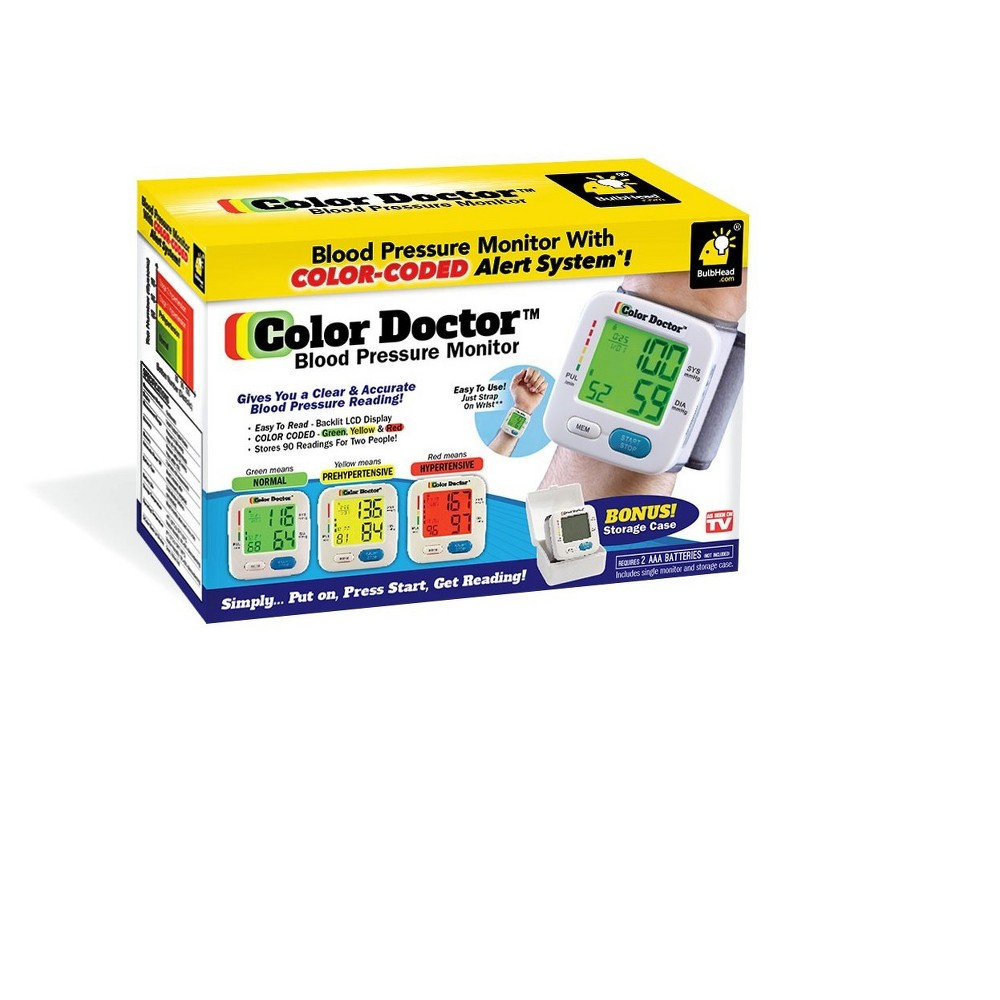 As Seen on TV Color Doctor Blood Pressure Monitors White