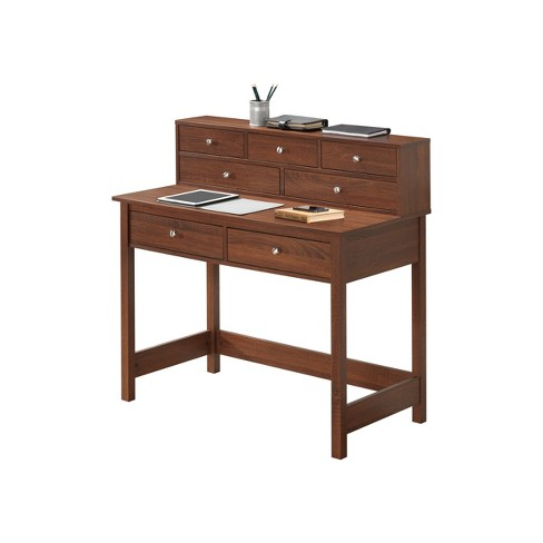 Elegant Desk with Storage Oak - Techni Mobili - image 1 of 4