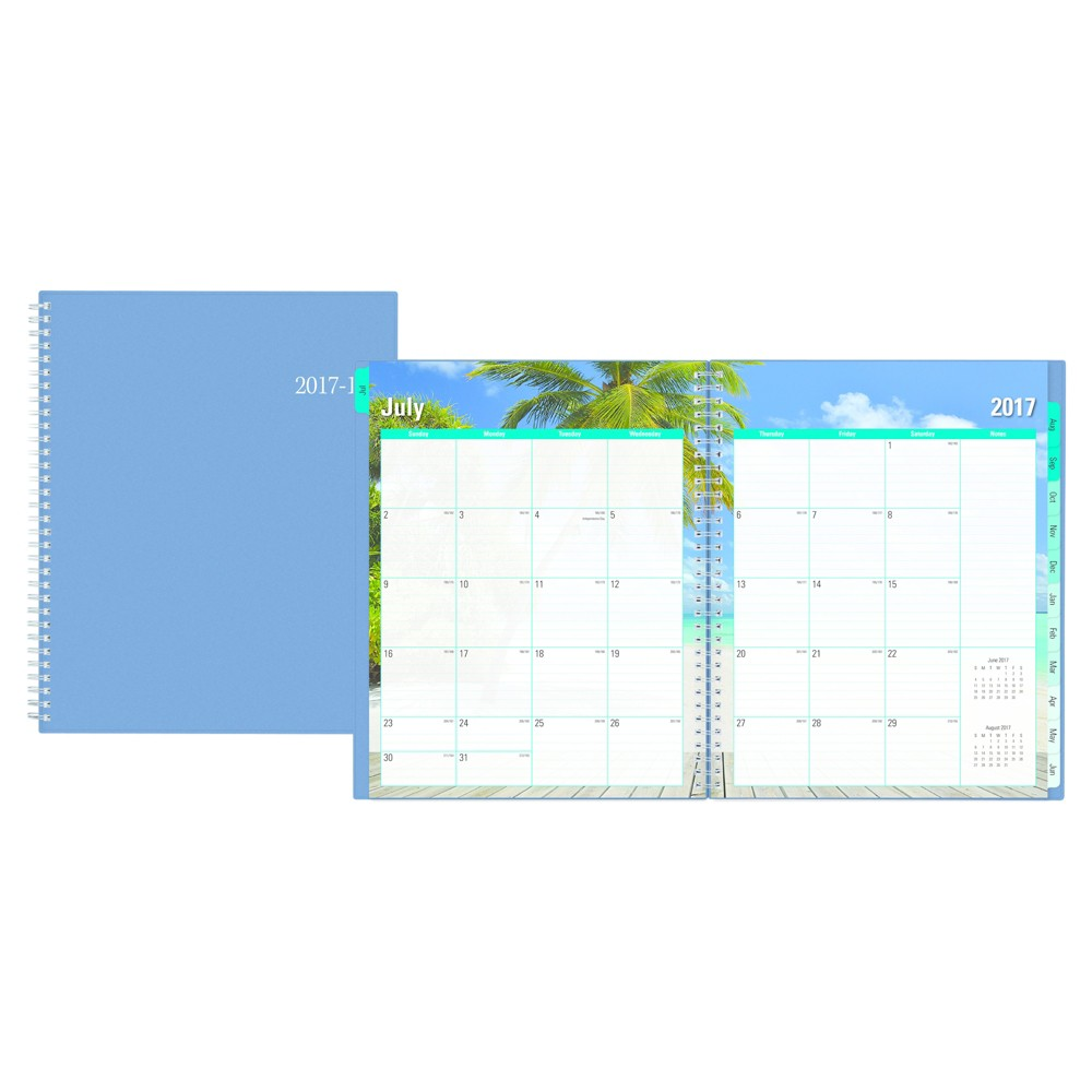 2017-2018 Blue Sky Academic Planner Weekly Monthly - Powder Blue