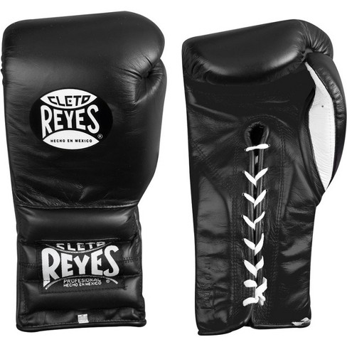 White Cleto Reyes Traditional Lace Up Training Boxing Gloves