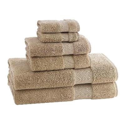 Kassatex Elegance Turkish Cotton 6pc Towel Set - Desert Sand