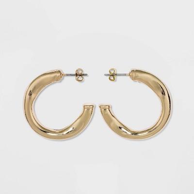 Wavy Hoop Earrings - A New Day™ Gold