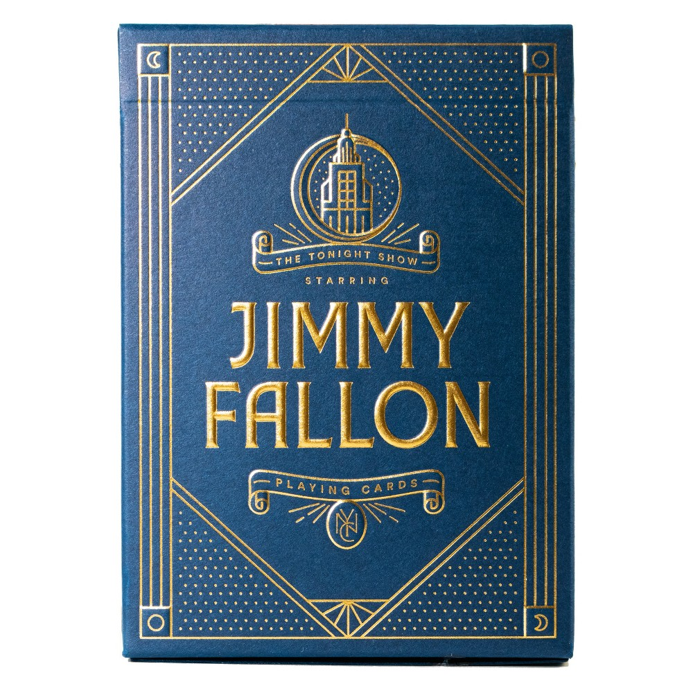 Jimmy Fallon Playing Cards Have a super fun game night with these Jimmy Fallon Playing Cards from Theory11. This pack of cards are not only stunning to look at, but are amazing for hours of playtime. Inspired by the awesome The Tonight Show with Jimmy Fallon, this set comes alive with iconic illustration elements featuring the stage backdrops, beautiful graphics and more. What's more, you can revive the old family custom of bridge nights once a month. Gender: Unisex.