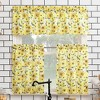 "14""x54"" Sunflower Print Semi Sheer Rod Pocket Kitchen Curtain Valance Yellow - No. 918 - image 4 of 4"