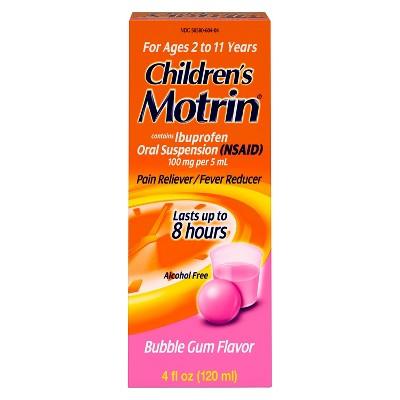 Children's Motrin Pain Reliever/Fever Reducer Liquid - Ibuprofen (NSAID)- Bubble Gum - 4 fl oz