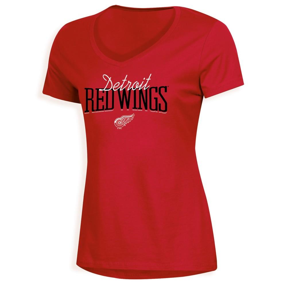 Detroit Red Wings Women's Overtime V-Neck T-Shirt - S, Multicolored