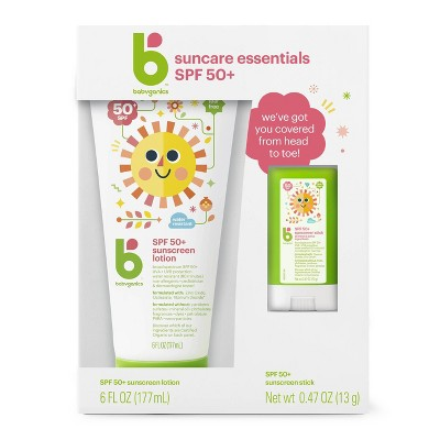 Babyganics Sunscreen Lotion And Stick Combo - SPF 50 - 6.47 fl oz