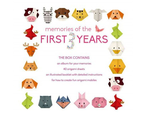 Memories of the First 3 Years (Girl) : Album With Origami Mobile Kit - Girl (Hardcover) - image 1 of 1