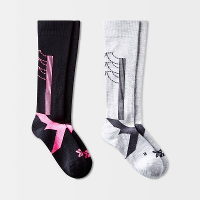 Women's Active Stripe Compression 2pk Knee High Athletic Socks - All in Motion™ 4-10