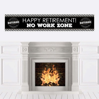 Big Dot of Happiness Happy Retirement - Retirement Party Decorations Party Banner