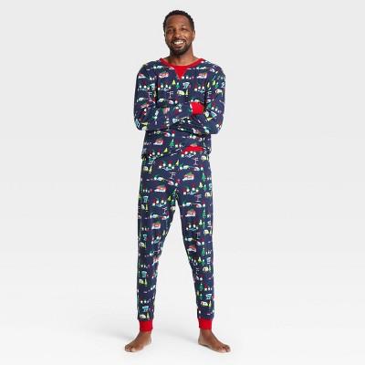 Men's Gnomes Holiday Matching Family Pajama Set - Wondershop™ Blue