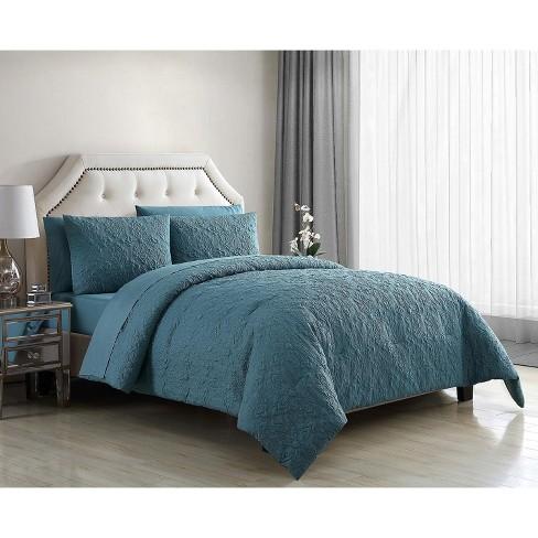 VCNY Home Caroline Embossed Floral Bed-in-a-Bag Comforter Set - image 1 of 4