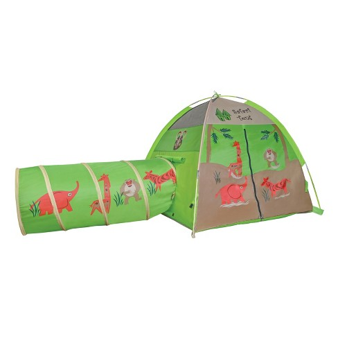 Pacific Play Tents Kids Safari Play Tent And Tunnel Set Combo 4' x 4' - image 1 of 3