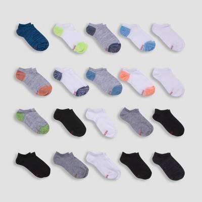 Hanes Boys' 20pk Super No Show Socks - Colors May Vary