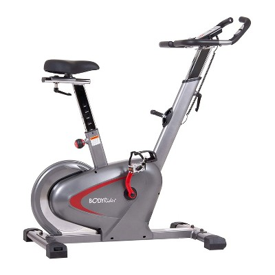 Body Flex Sports Body Rider BCY6000 Indoor Upright Exercise Bike with Curve Crank Technology, Rear Drive Flywheel, and Heart Rate Monitor System