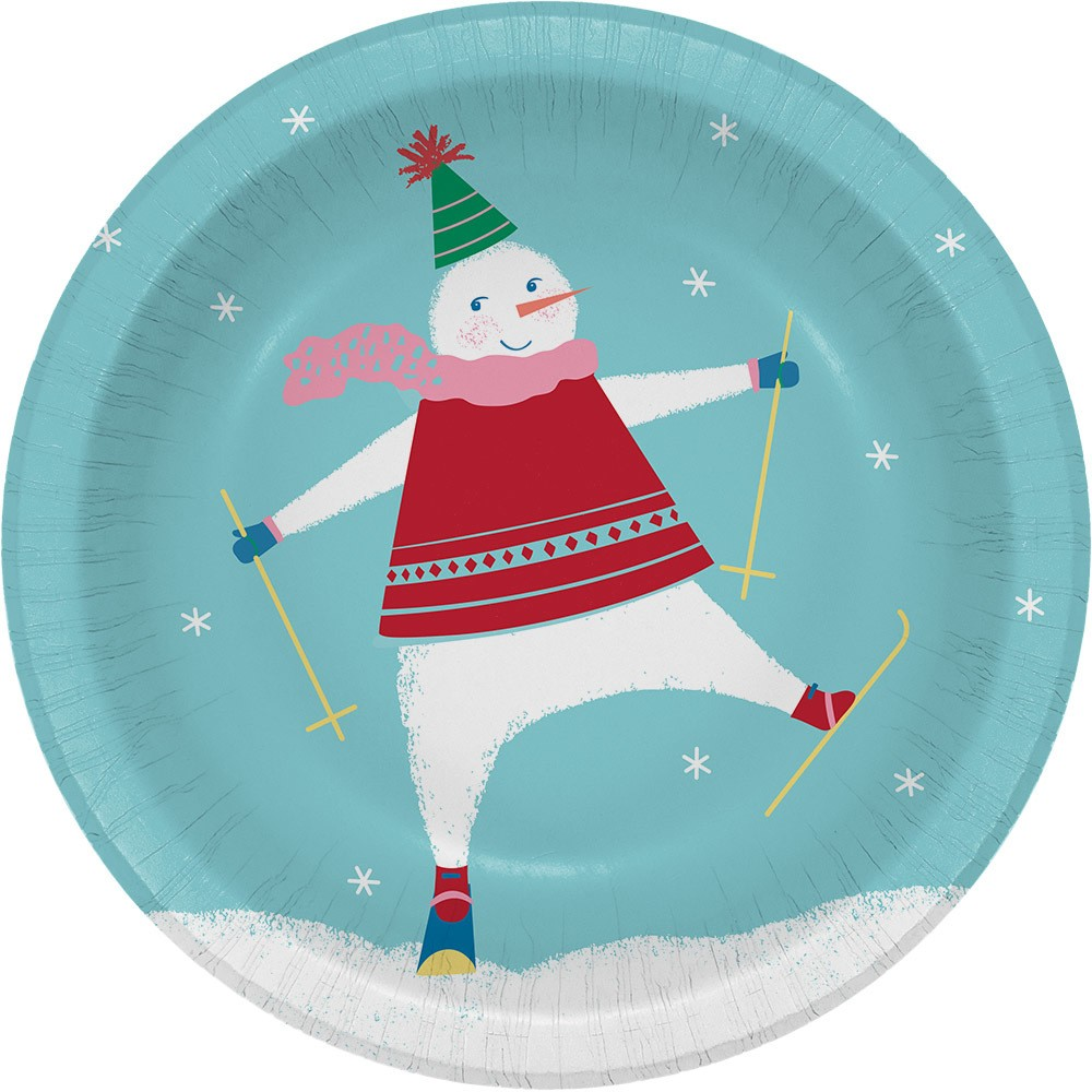 8ct Dancing Snowman Paper Bowls - Wondershop, Multi-Colored