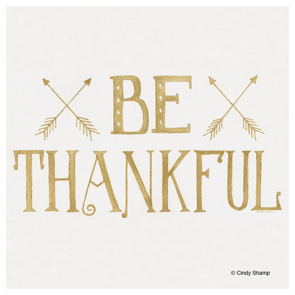 Image of 4pk Ceramic Be Thankful Arrow Print Coasters - Thirstystone
