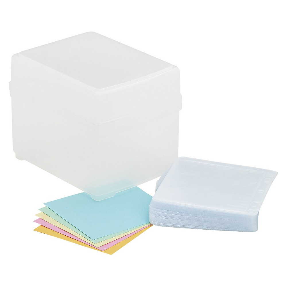 Image of Innovera CD/DVD Storage Box Holds 100 Discs