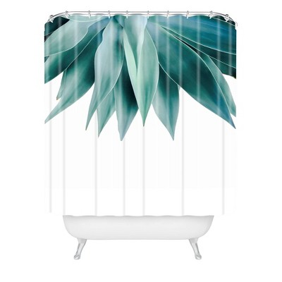 Gale Switzer Agave Fringe Shower Curtain Green - Deny Designs