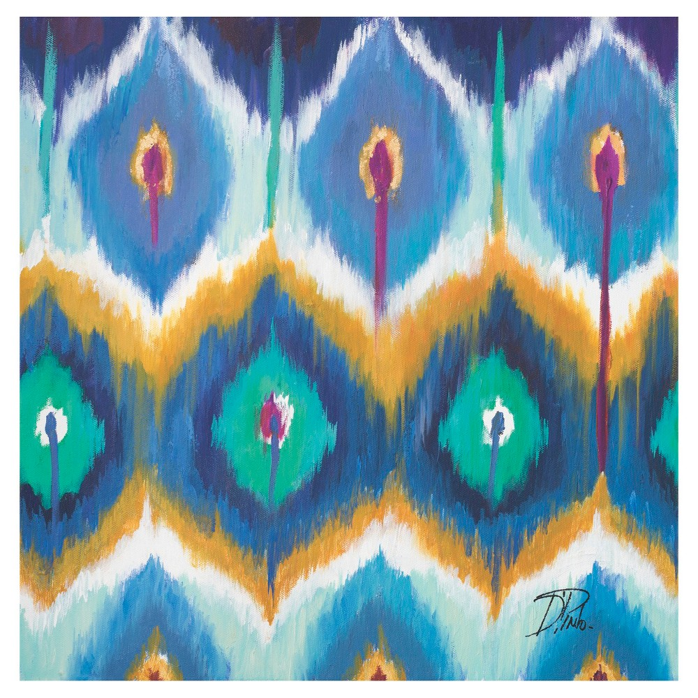 Image of Thirstystone Peacock Ikat 4 Piece Occasions Coaster Set