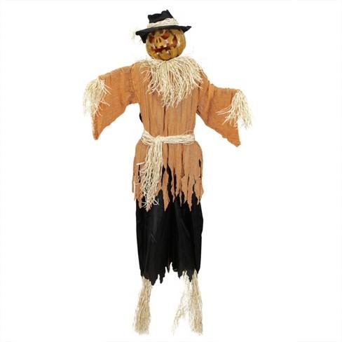 Northlight 6' Prelit Animated Jack-o'-Lantern Scarecrow Halloween Decoration - Orange/Black - image 1 of 1