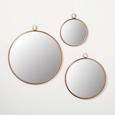 3pc Circle Wall Mirror Set Copper Finish - Hearth & Hand™ with Magnolia