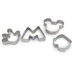 Seven20 Disney Mickey Mouse Metal Cookie Cutters | Set of 4