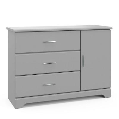 Storkcraft Brookside 3 Drawer Combo Dresser - Pebble Gray