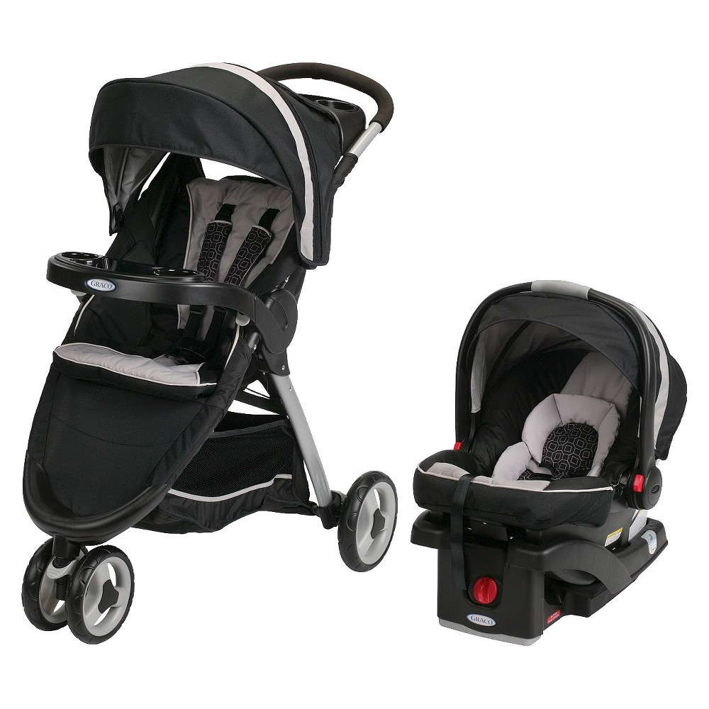 Graco Fastaction Fold Sport Click Connect Travel System With Snugride Infant Car Seat Pierce