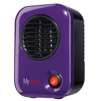 Lasko 106 MyHeat Small Portable Personal Electric 200 Watt Ceramic Space Heater for Office Desk and Home, Purple