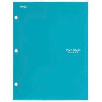 Mead Five Star 4 Pocket Solid Paper Folder (Color Will Vary)
