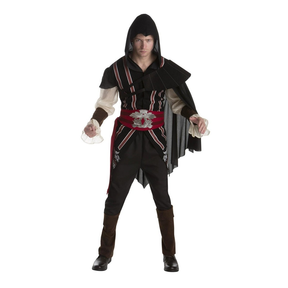 Image of Halloween Assassin's Creed Men's Ezio Auditore Deluxe Halloween Costume L - Palamon, Size: Large, MultiColored