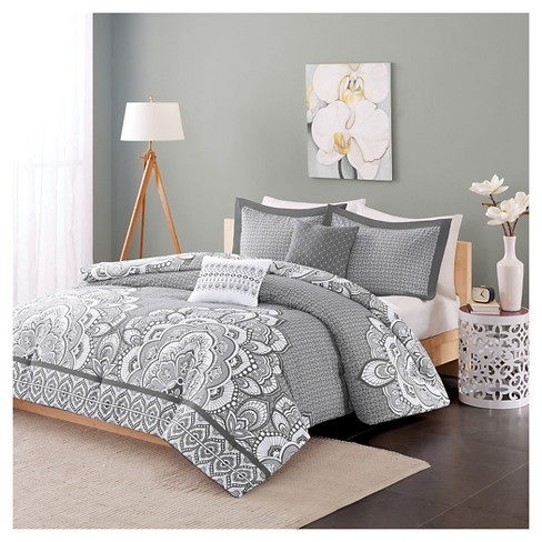 Aimee Comforter Set Twin Twin Extra Long 4pc Gray Target