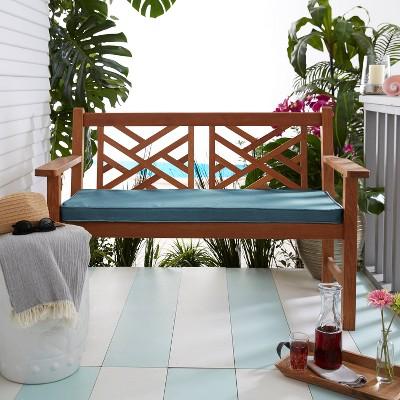 Sunbrella Indoor/Outdoor Corded Bench Cushion