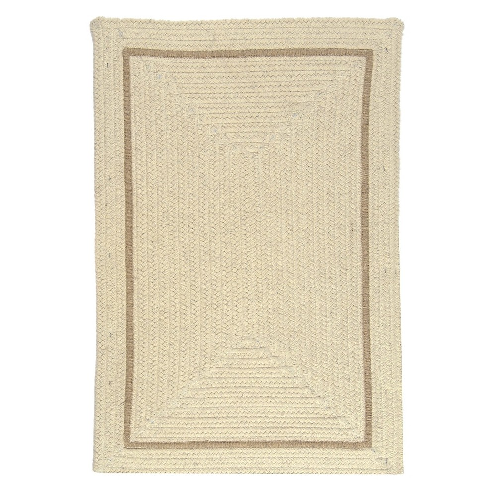 Shear Natural Braided Accent Rug Canvas 2 X3 Colonial Mills