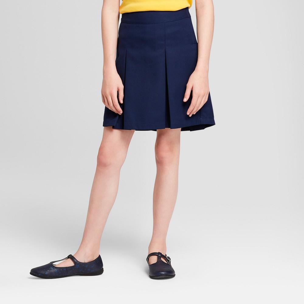 Girls' Pleated Uniform Scooter - Cat & Jack Navy (Blue) 12