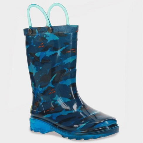 Toddler Boys' Western Chief Shark Blaze Boots - Navy - image 1 of 3